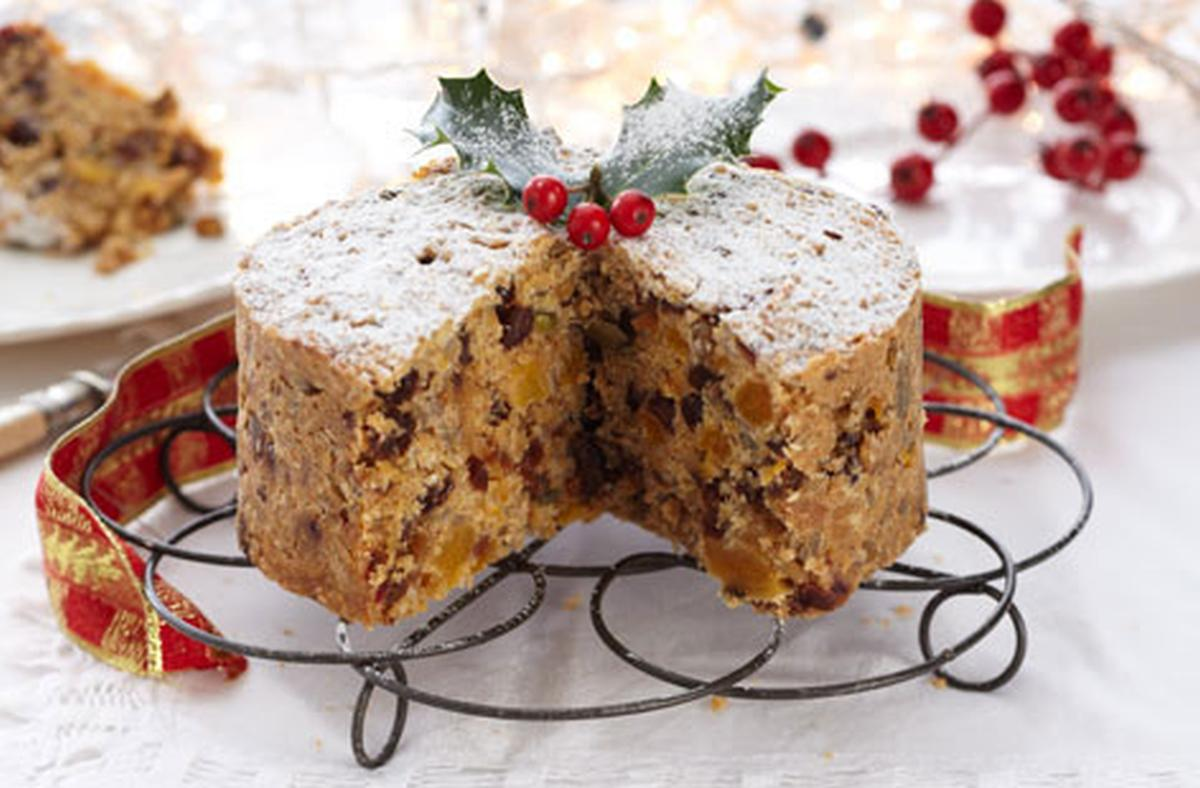 Christmas Fruit Cake Muffins