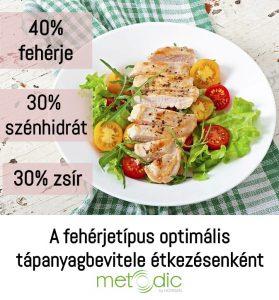 A fehérjetípus optimális tápanyagbevitele étkezésenként